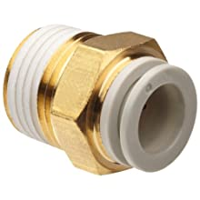 SMC KQ2HS PBT One-Touch Tube Fitting with Sealant, Adapter, Tube OD x NPT Male