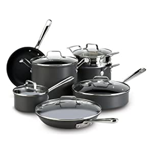 Emeril by All-Clad E920SA64 Hard Anodized Nonstick Cookware Set, Black