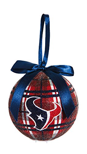 100Mm Led Ball Ornament, Houston Texans