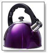 Purple Stainless Steel Shiny Tea Kettle