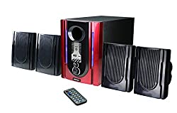 Vemax 4800 4.1 Speaker System With FM USB AUX (Maroon & Black)