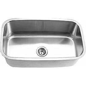 Stainless Steel Undermount Kitchen Sink - Single Bowl
