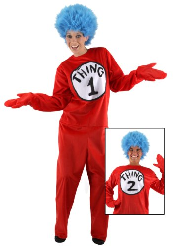 Adult Thing 1 and 2 Costume