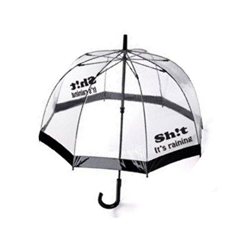 Pilot Imports® , Ombrello classico  trasparente Shit Raining