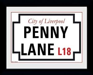 GB eye 8 x 6-inch Penny Lane Framed Photograph, Assorted