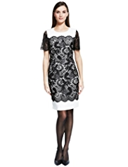 Autograph Floral Lace Shift Dress