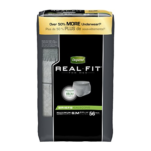 depend-real-fit-incontinence-briefs-for-men-maximum-absorbency-s-m-grey-packaging-may-vary