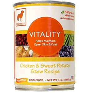 Dogswell Vitality for Dogs, Chicken & Sweet Potato Stew Recipe, 13-Ounce Cans (Pack of 12) at Sears.com