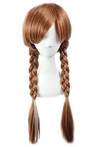E-Mell Women's Movie Frozen Cosplay Princess Anna 25.6'' Plait Wig