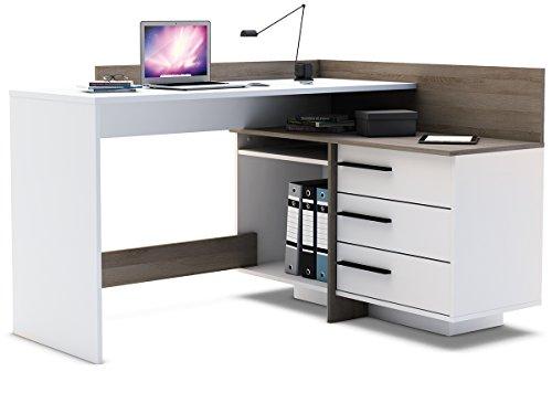 Eckschreibtisch-Schreibtisch-Arbeitstisch-Brotisch-Computertisch-Thales
