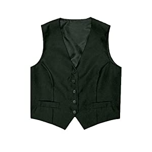 Chef Works Black Women's Server Vest, Size L