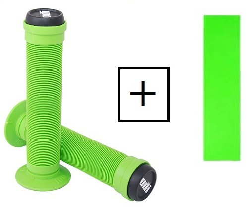 ODI LONGNECK GRIPS AND GRIPTAPE KIT LIME GREEN Grip tape