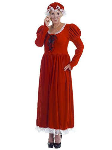 [Mygems Women's Mrs. Claus Adult Costume] (Mrs Claus Costume Makeup)