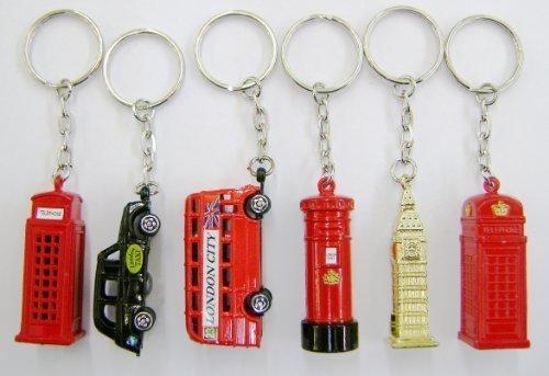 set-of-6-die-cast-metal-london-city-keyrings-london-taxi-london-bus-big-ben-post-box-two-telephone-b