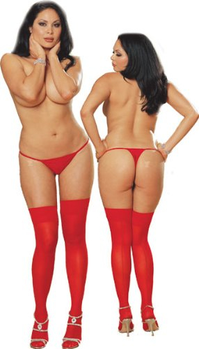 Plus Size Red Stockings