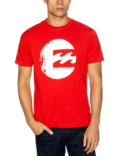 Billabong No Wave Short Sleeve Printed Men's T-Shirt Red Fire Medium