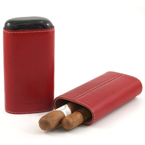 andre-garcia-horn-collection-cognac-red-leather-cigar-case-with-buffalo-horn-accent-3-finger