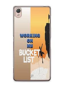 YuBingo Working on my Bucket List Mobile Case Back Cover for Sony Xperia Z3