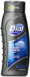 Dial Men Hair and Body Wash Hydro Fresh 16 Ounce