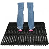 DOUBLE-TUF ANTI-FATIGUE FLOOR MAT - TRACK-SAFE RUBBER MAT