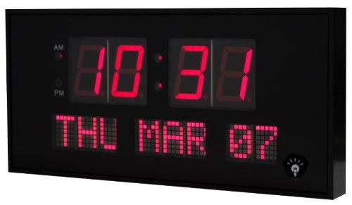 eHealthSource Big Oversized Digital LED Calendar Clock, 15 3/4-Inch