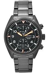 Seiko Men's SNN237 Sports Black Stainless-Steel Black Chronograph Dial Watch