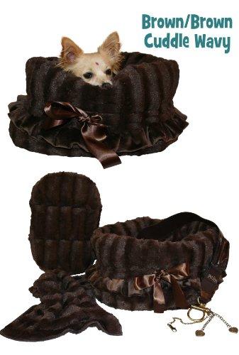 Pet Flys Reversible Snuggle Bug Brown/Brown Wavy