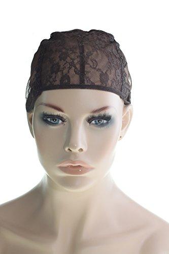LAUREN STORE, Size MEDIUM Classic Wig Cap for Making Wigs Cap Stretchy Adjustable Straps (B-103) (Adjustable Wig Cap compare prices)
