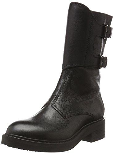 MANASST.JEAN - Stivali a metà polpaccio con imbottitura leggera Donna , Nero (Nero (Nero)), 38 EU