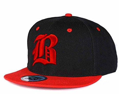 Berretto da Baseball Cap, Cappello SnapBack Snap back-Berretto 3D Hip-Hop, stile gotico, B Multicolore (B Red Red)