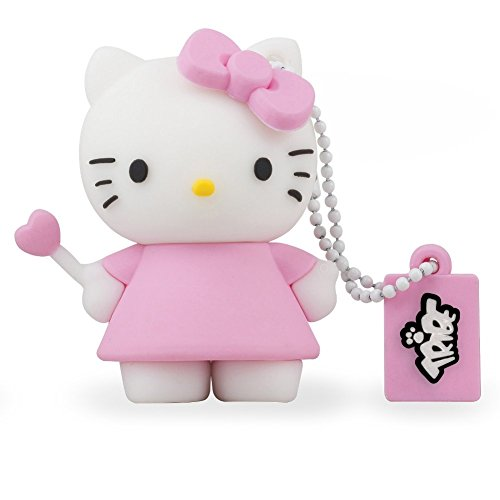 Tribe FD004404 Hello Kitty Pendrive 8 GB Simpatiche Chiavette USB Flash Drive 2.0 Memory Stick Archiviazione Dati, Portachiavi, Angel, Rosa