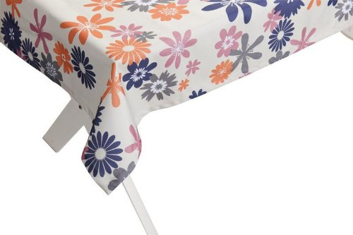 """Outdoor TISCHDECKE """"Capri lila-orange"""" Gartentischdecke Gartentisch Tisch Decke abwaschbar 140cmx240cm günstig kaufen"""