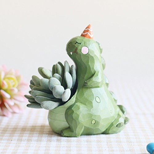 Creative Resin Cute Dinosaur Flower Pots Succulent Plants Pots Bonsai Planter Home Decoration