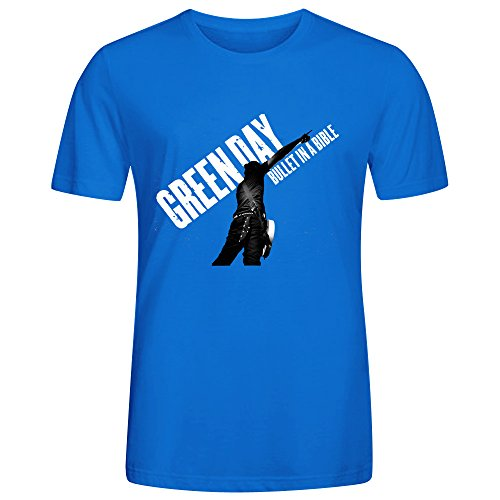 [Green Day Bullet In Bible Live Audio Tee Shirts Men Blue] (Puff The Green Dragon Dress)