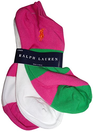 Ralph Lauren Blue Label Sport Rugby Ped 3 Pack (7480) One Size/Hot Pink