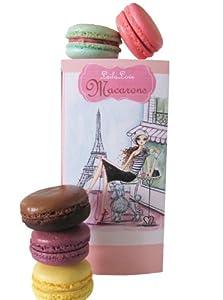 LeilaLove Macarons, 6 Macarons - Signature Flavors- The Memories of Paris Box
