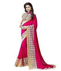 Meera Trendz Women's Georgette Saree(ranivaav_Rani)