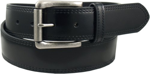 Dickies Men's 40Mm Bridle With Double Row Stitch Belt,Black,42