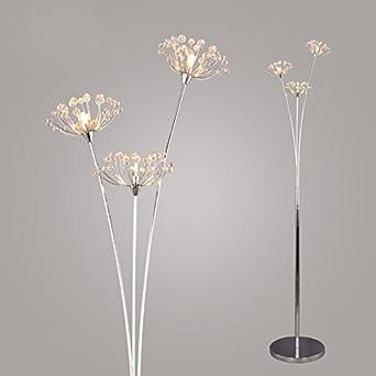Creative Modern Crystal Dandelion Living Room Floor Lamp Simple Bedroom Floor Lamp Study Room