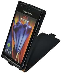 Original Suncase Flip-Style Tasche für Sony Ericsson Xperia Arc/Arc S in schwarz