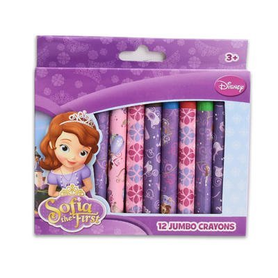 Disney Sofia the First 12 Jumbo Crayon Set - 1