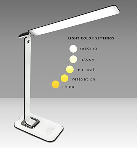 turcom relaxalight led desk lamp table lamp dimmable usb ports for chargers