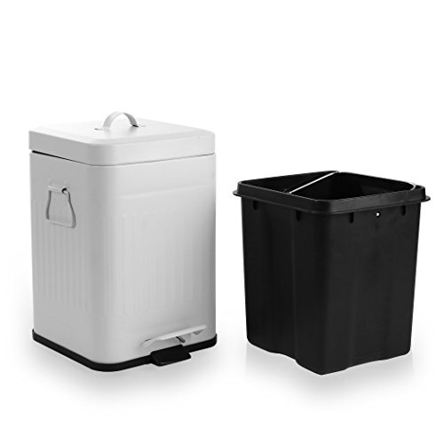 Modern toilet trash can square step w lid cabinet bathroom kitchen bin small 5l ebay - Small pull out trash can ...