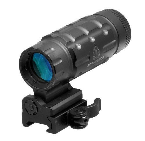 Cheapest Prices! UTG 3X Magnifier with Innovative Flip-to-side Quick Detach Picatinny Mount