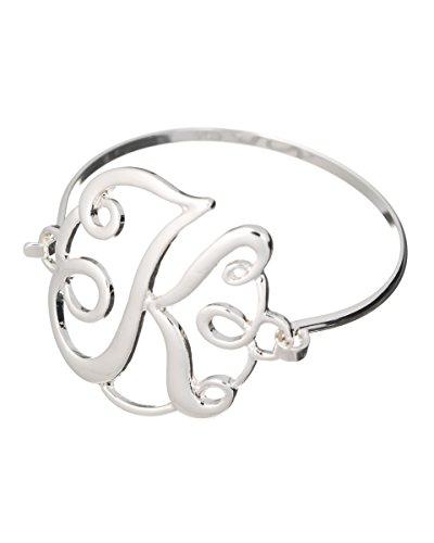 initial-k-monogram-designer-silver-tone-filigree-wire-bracelet-by-jewelry-nexus