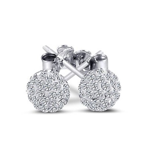 Beautiful 925 Sterling Silver Ball Stud Sterling