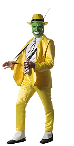 Tabis Characters Jim Carrey The Mask Tuxedo Complete Costume Small (Adult Yellow Zoot Suit Costume)