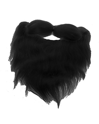 Fake Beard and Mustache Halloween Costume Accessory-Black-8""