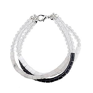 GOMO Aliexpress Bracelets Bangles Silver Plated Natural Stone Crystal Wristband Female Braceletes