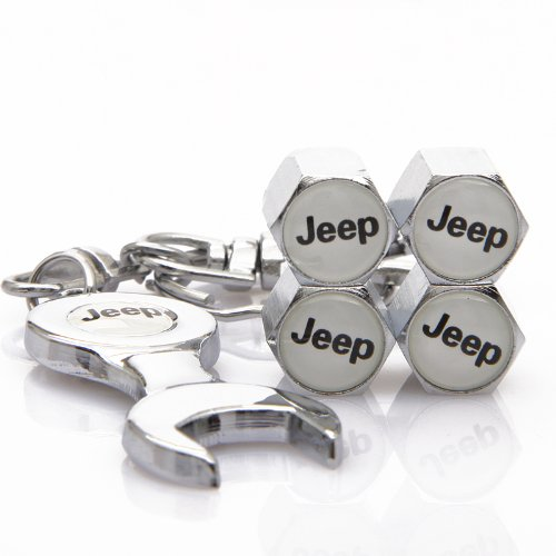 D&R Wrench Keychain Chrome Tire Valve Stem Caps for Jeep (Jeep Valve Stem Caps compare prices)